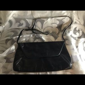 Anne Klein Leather Shoulder Clutch Bag